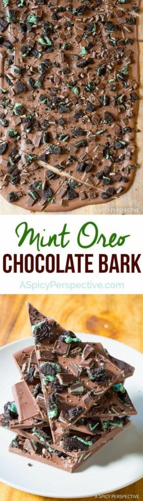 Mint Oreo Chocolate Bark