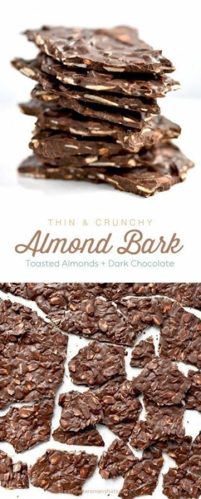 Dark Chocolate Toasted Almond Bark