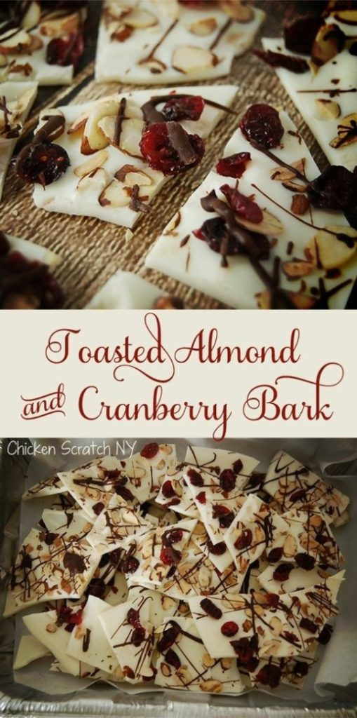Toasted Almond & Cranberry Bark