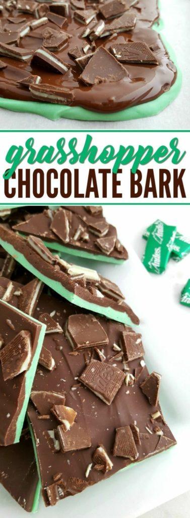 Grasshopper Chocolate Bark
