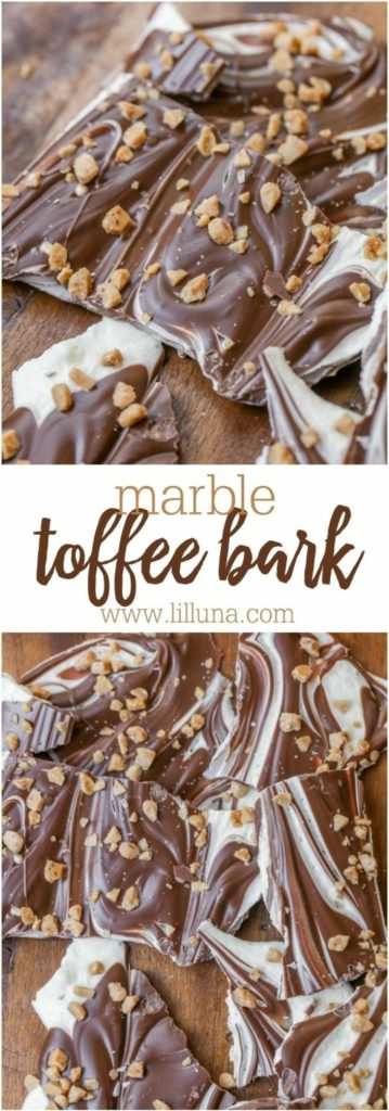 Marble Toffee Bark