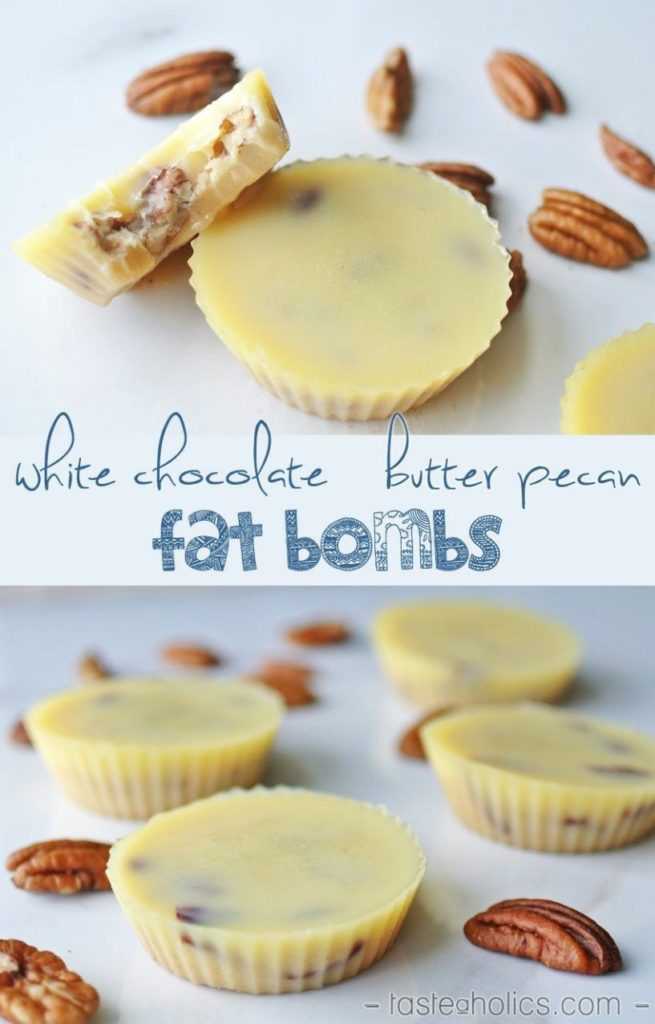 White Chocolate Butter Pecan Fat Bombs
