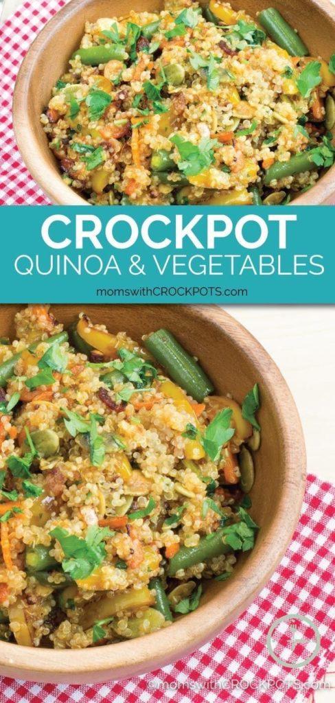 Crockpot Quinoa & Vegetables