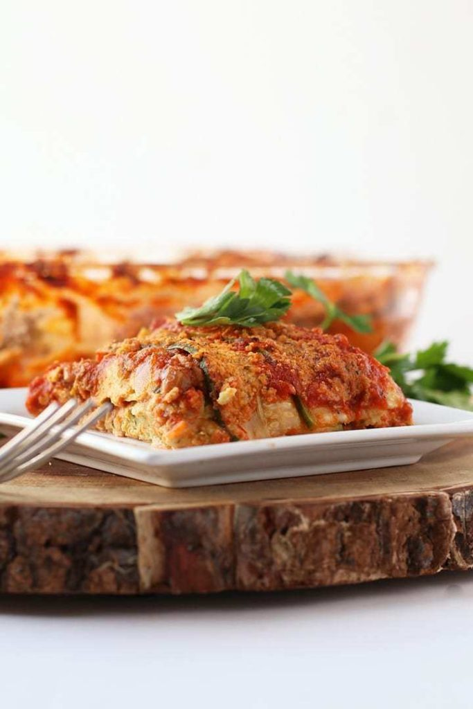 Vegan Zucchini Noodle Lasagna