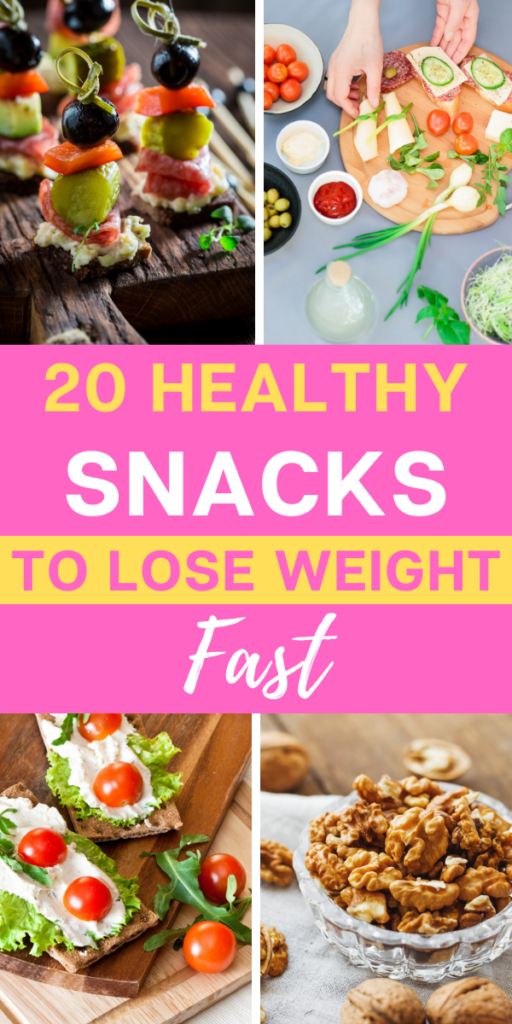 20 healthy snacks to lose weight