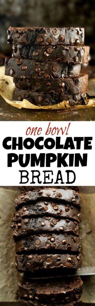One Bowl Chocolate Pumpkin Bread