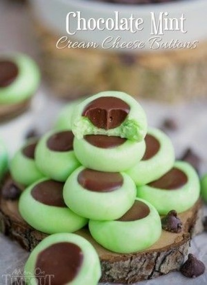 Chocolate Mint Cream Cheese Buttons Fat Bombs
